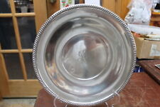 "Vintage Richard Dimes Sterling Round Sandwich Tray 9.75"" Diameter 311.9Grams"