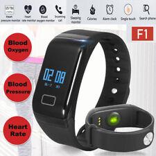 F1 Blood Pressure/Oxygen Heart Rate Monitor Smart Watch Bracelet Fitness Tracker
