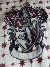 GRYFFINDOR LION HOUSE CREST HARRY POTTER HOGWARTS Fleece Blanket Throw NEW  Gift