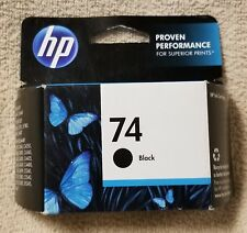 New Genuine HP 74 Black Ink InkJet Print Printer Cartridge CB335WN Option 140