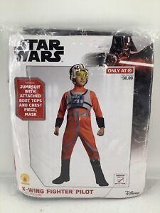 Disney STAR WARS X-WING FIGHTER PILOT Child Costume Kids Medium 8-10 Rubies