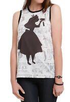 Disney Alice In Wonderland Shirt Size Small Comic Strip Tonal Muscle Top