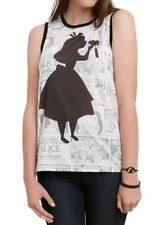 Disney Alice In Wonderland Shirt Size Small Comic Strip Tonal Muscle Top