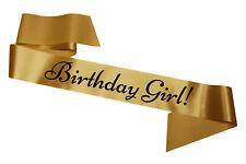 Gold Birthday Girl Sash Party Sashes Celebration Sweet Sixteen Cheap