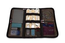 Portable media electrónica Organizador Wrap Disco Duro bolsa organizador de viajes Azul