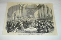 1879 magazine engraving ~ ATTEMPT TO ASSASSINATE QUEEN ISABELLA II Spain in 1856