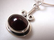 Red Garnet Swirls 925 Silver Necklace Corona Sun Jewelry