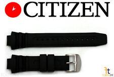 Citizen BN0016-04L Original Black Rubber Watch Band Strap E168-S043280