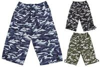Boys Shorts 2018 Army Pixel Camouflage Print Combat Pocket Kids 3 to 14 Years