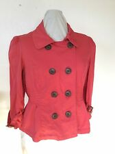 Women's American Rag jacket/top Coral size large, double breasted buttonfront