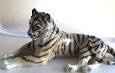 Vintage Royal Copenhagen Porcelain Large Tiger Figurine Model 714