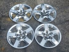 "Set of 4 OEM 2008-12 Chevy Malibu LT Chrome Bolt-On 17"" Hubcaps Wheel Covers GM"