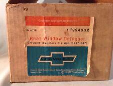 NOS CHEVY 71  Rear Window Defogger # 994332 Factory Box COMPLETE