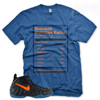 "New Royal ""SUCCESS FACTS"" T Shirt for Nike Foamposite Knicks Orange Blue Black"