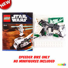 NEW LEGO Star Wars Clone Trooper Speeder Bike 7913 with Instruction Manual Book