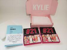 2 Kylie jenner makeup lipstick set #21 birthday collection original receipt box