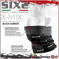 SIXS SIX2 TBX SCALDA COLLO COLLARE TERMICO X-MIX CARBON BLACK MOTO SCOOTER BICI