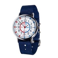 EasyRead Time Teacher Red/Blue Face, Past & To Watch - Navy Strap (ERW-RB-PT-NB)