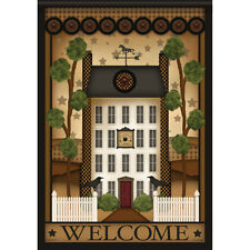 """White House Welcome Primitive House Flag  28"""" x 40"""" Double sided Flag by Carson"""