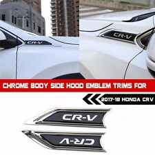 Chrome Body side Hood emblem Trims for 2017-18 Honda CRV