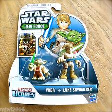 STAR WARS Jedi Force YODA & LUKE SKYWALKER Playskool Heroes HASBRO 2pk