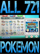Véritable POKEMON ALPHA SAPPHIRE Tous 721 shiny Pokemon Nintendo 3 DS 2 DS Omega Ruby