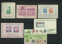 USA Mint NH Souvenir Sheet collection 6 Diff 778, 797, 948, 1075, 1311, 1757