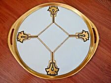 Haviland France Porcelain Vanity Tray Art Deco Perfume Dresser Plate Limoges
