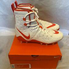 New Nike Force Savage Elite Td Football Cleats 857063-188 Size 11 White Orange