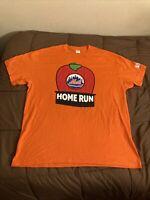 New York Mets Big Apple Home Run Graphic T-Shirt Size XL Gildan SGA