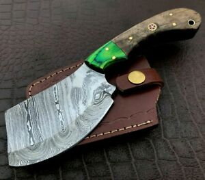 Handmade Axe-Damascus Steel Viking Axe-Camping-Outdoors-Leather Sheath-DH107