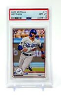 Gavin Lux 2020 Bowman Rookie #71 RC PSA 10 Gem Mint Los Angeles Dodgers