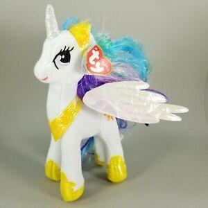 "NEW! 2017 TY Sparkle My Little Pony PRINCESS CELESTIA 9"" Stuffed Plush Doll Toy"