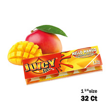 Juicy Jay's Mello Mango Flavored 1 1/4 Size Rolling Papers 32ct, Raw, Elements