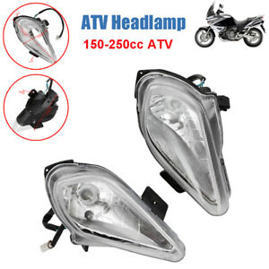 2PCS Motorcycle Front Headlight Headlamp Night Light Universal For 150-250cc ATV