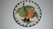 PUIGDEMONT ART POTTERY PLATE FRUIT DESIGN MADE IN  SPAIN