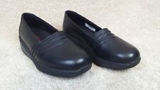 MBT Azima Black Leather Slip-On Walking Shoes, US Women's 7-7.5, EUR 38