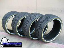 NEW SET OF 4 VOGUE TYRE CUSTOM BUILT WHITE GOLD WALL TIRES 305/35R24 305 35 24
