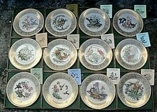 Lenox Boehm Birds Set of 12 Collector Plates Limited Ed 1970-1981 Boxed