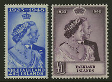 Falkland Islands  1948  Scott # 99-100   Mint Lightly Hinged Set