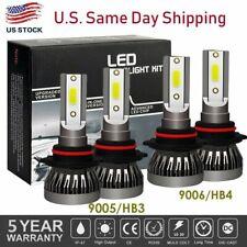 4X 9005 + 9006 Combo LED Headlight Kit Fog Lamps Bulbs 6500K White High Low Beam