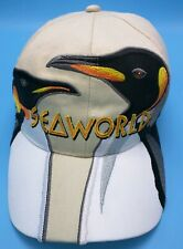 SEAWORLD beige / white adjustable cap / hat - 100% cotton - sea world