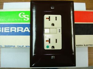 Vintage Oversize Brown Smooth Decora GFCI Switch Outlet Wall Cover Plate Sierra