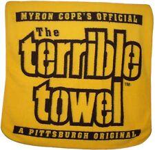 "Pittsburgh Steelers Terrible Towel Large Soft Fleece Throw Blanket 50"" X 60"""