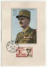 1956 ALGIERS ALGERIA PC Postcard GENERAL LECLERC France FRENCH Military CANCELS