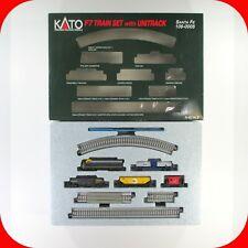 N Scale Kato F7 TRAIN SET with UNITRACK - SANTA FE Locomotive & 4 Cars, 106-0005