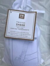 """Pottery Barn Teen Twisted Sheer Curtain 63"""" White NEW"""