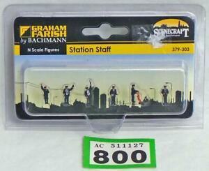 G800 Bachmann Farish Scenecraft 379-303 Station Staff figures N