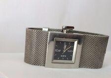 Ladies DKNY Black Square Dial Mesh Stainless Steel Silver tone Bracelet Watch