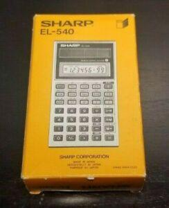 Vintage 70s Sharp EL-540 Solar Cell Scientific Calculator IN BOX *Rare*